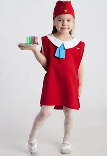 Stewardess - children's costume-profession