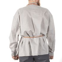 Blouse 'Folklore' gray with gold embroidery