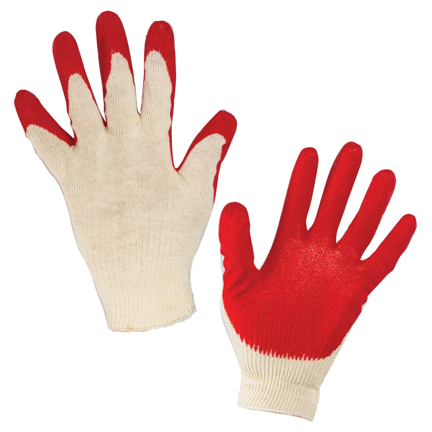 LIMA / Cotton gloves LUX, SET 5 PAIRS, 13 class, 36-38 g, 100 tex, SINGLE latex coating