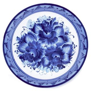 Plate Gift 2nd grade, Gzhel Porcelain factory