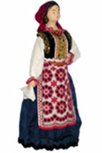 Doll gift porcelain. Gomel district. Belarus. Jewish women's festive costume.