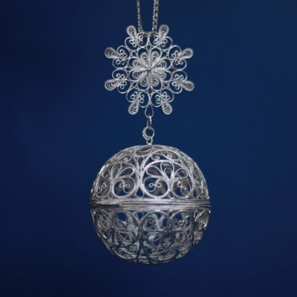 "Kazakovskaya Filigree / Souvenir ""Small ball"" silvering"