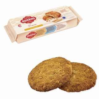 """YASHKINO / Cookies """"Jens"""", butter, with cereals and coconut, 180 g"""