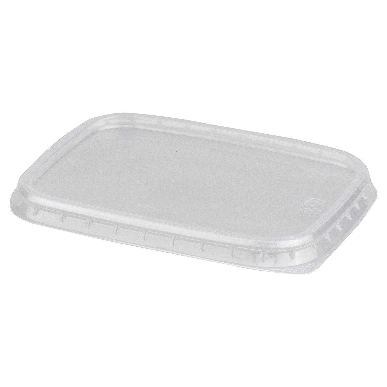 STIROLPLAST / Lids for disposable containers 108x82 mm, SET 100 pcs., PP, transparent (containers 605077-605080)