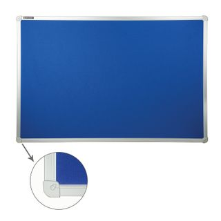 Board with textile covering for ads (60x90 cm) blue, 10 YEARS WARRANTY, RUSSIA, BRAUBERG