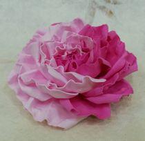Hair clip brooch rose fuchsia pink milotto
