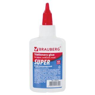 Glue stationery BRAUBERG-SUPER (paper, cardboard, wood), 65 g
