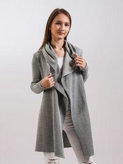 Longline cardigan with hood