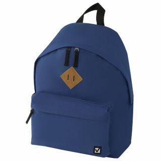 Backpack BRAUBERG, universal, city-format, single tone, blue, 20 litres, 41х32х14 cm