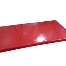 Gymnastic foam mat with a cover