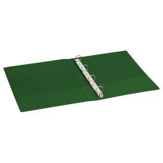 Folder on 4 rings BRAUBERG, cardboard/PVC, 40 mm, green, 250 sheets (double life)
