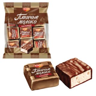 """ROT FRONT / Chocolate sweets """"Bird's milk"""", souffle, creamy vanilla, 225 g, package"""