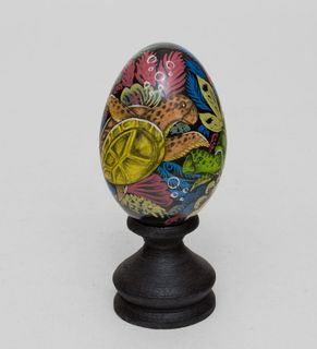 "Egg wooden ""Turtle"" 14cm"
