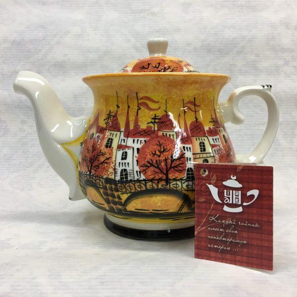 """Cheerful porcelain / Porcelain teapot """"Gorodok"""", author Ogorodnikova O."""
