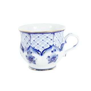 Mug Soft gold, Gzhel Porcelain factory