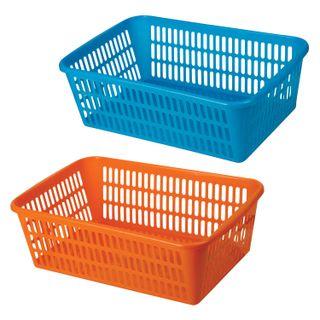 Universal storage basket, plastic, 9.5x30x19.5 cm, assorted