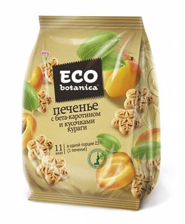 Cookies Eco Botanica with beta-carotene and pieces of dried apricots, 200 gr.