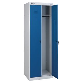 Metal cabinet for clothes ShRK-22-800, two-section, 1850x800x500 mm, 34 kg, collapsible
