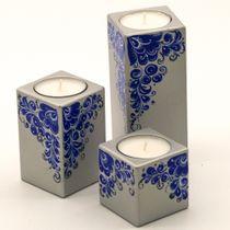 Fishing / Set of candlesticks, kudrina blue