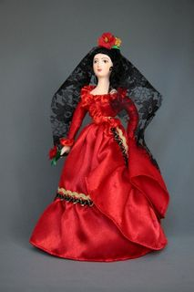 Doll gift. Carmen. Collective image. Spain.