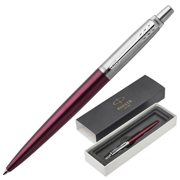 Ballpoint pen PARKER 'Jotter Core Portobello CT Purple', body purple, chrome, blue