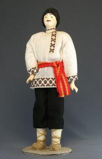 Doll gift porcelain. Chuvash men's festive costume.