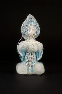 Snow Maiden. Fairytale character. Christmas decorations.