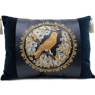 "Cushion ""Bird in flowers"""