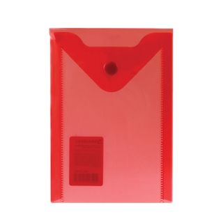 Folder-envelope with button SMALL FORMAT (105х148 mm), A6, red, 0.18 mm, BRAUBERG