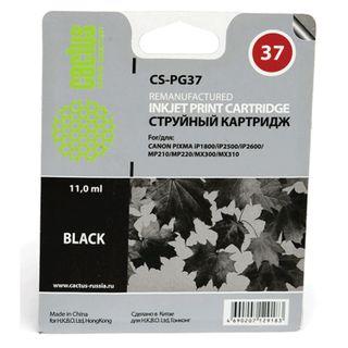 Inkjet cartridge CACTUS (CS-PG37) for CANON PIXMA MP210 / 220/310/300/140 / iP1800, black