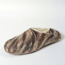Handmade men's slippers 'Chocolate'