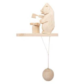 Souvenir Bear with fish, Bogorodskaya toys