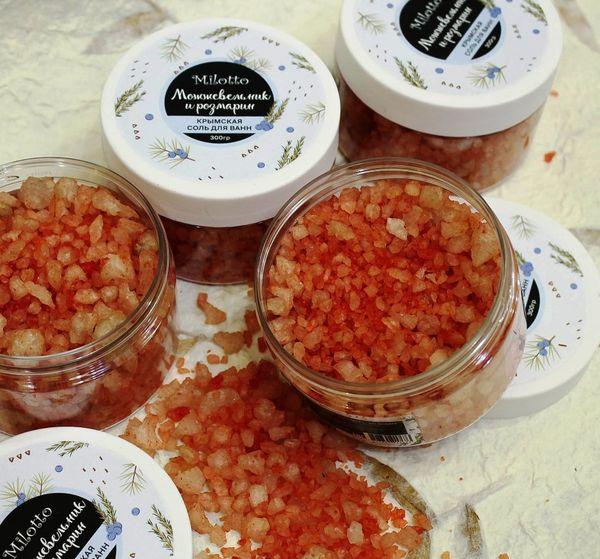 Crimean sea bath salt with essential oil of Rosemary-Juniper