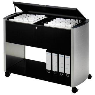 Cart for hanging folders DURABLE, 100 folders, A4 (695х985х440 mm), with cover, black