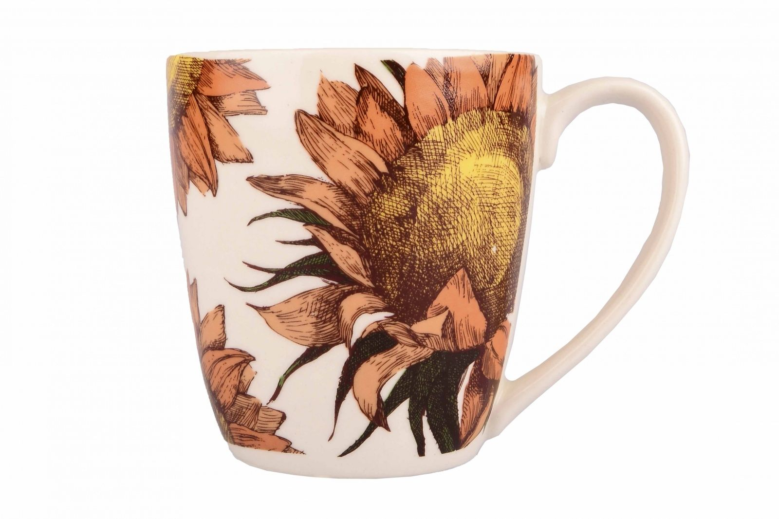 Dulevo porcelain / Mug 400 ml Saturn Sunflowers (Ceramics)
