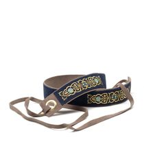 Women's belt 'the Scent of roses' blue / gray