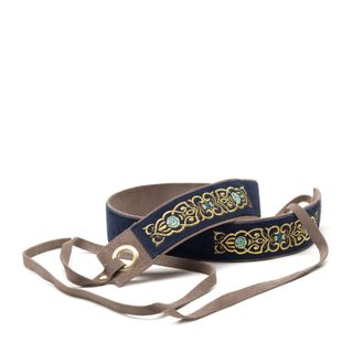 "Women's belt ""the Scent of roses"" blue / gray"