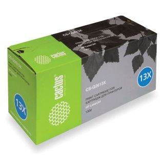 Toner cartridge CACTUS (CS-Q2613X) for HP LaserJet 1300 / 1300N, yield 4000 pages.