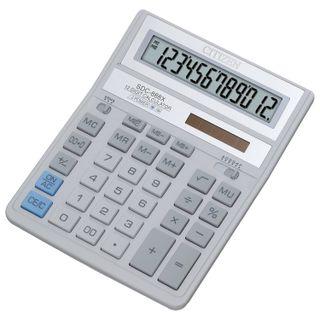 Desktop calculator CITIZEN SDC-888ХWH (203х158 mm), 12 digits, dual power supply, GRAY