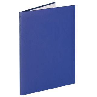 Folder address fire alarms without labels, A4, blue, individual packing, STAFF