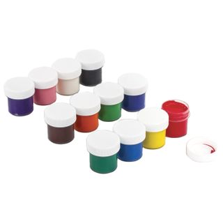 POLIPAX 12 gouache colors in 10 ml without a brush, carton packaging