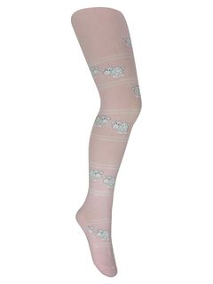 "Tights with a pattern ""Sheep"" pink"