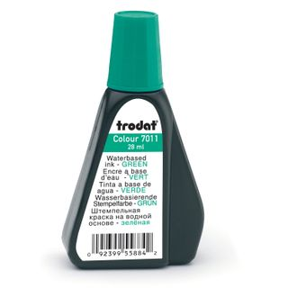 Stamping ink, TRODAT, green, 28 ml, water based
