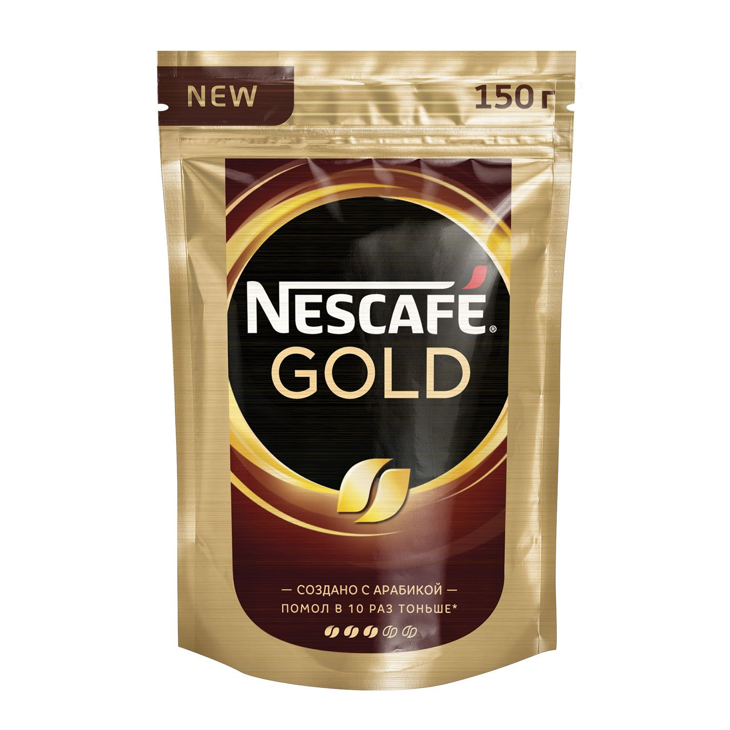 """NESCAFE / Ground coffee in instant """"Gold"""", soft pack 150 g"""