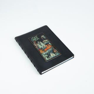 "Palekh / Notepad ""Winter"" black A5 format"