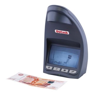 DOCASH LITE D banknote detector, 12 cm LCD, viewing, IR detection, special element