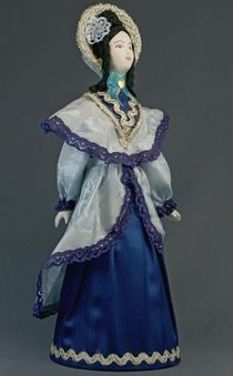 Doll gift porcelain. The St. Petersburg lady. The middle of the 19th century. The European fashion.