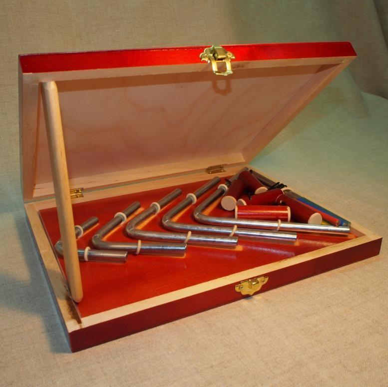 "Workshop Serebrov / Set of squares No. 7 ""Chimes"" (06-08-10-12-14 cm, diameter 8 mm.)"