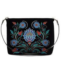 Velvet bag 'Azulezhu' black