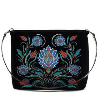 """Velvet bag """"Azulezhu"""" black"""